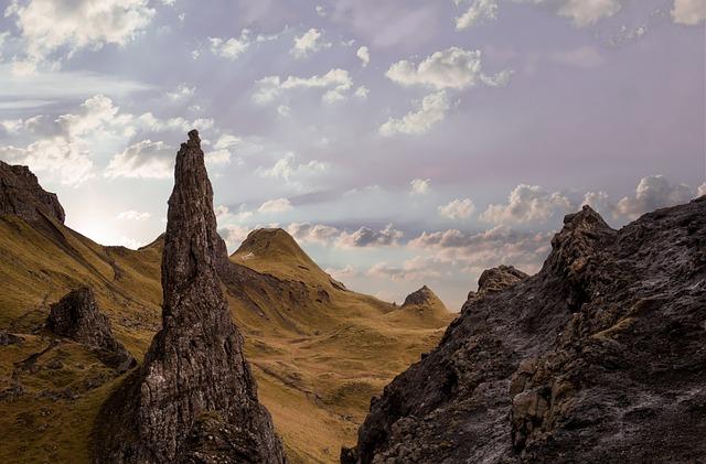 Hills, Sky, Landscape, Nature, Mountains, Clouds, Cliff