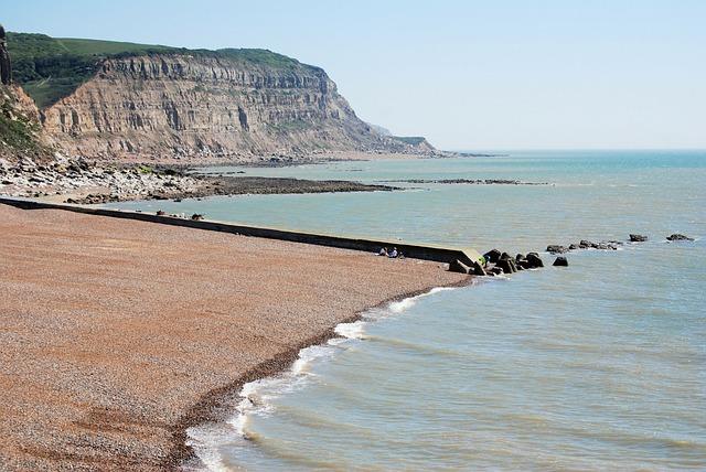 Hastings, Shore, Cliff, Ocean, Sea, Beach, Seascape