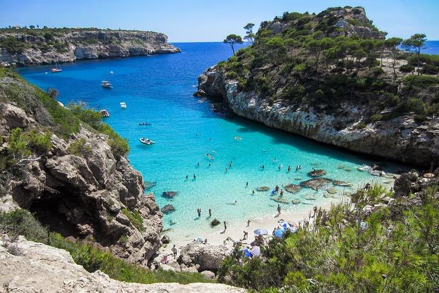 Beach, Mallorca, Bay, Cliff, Nature, Summer, Sun, Sea