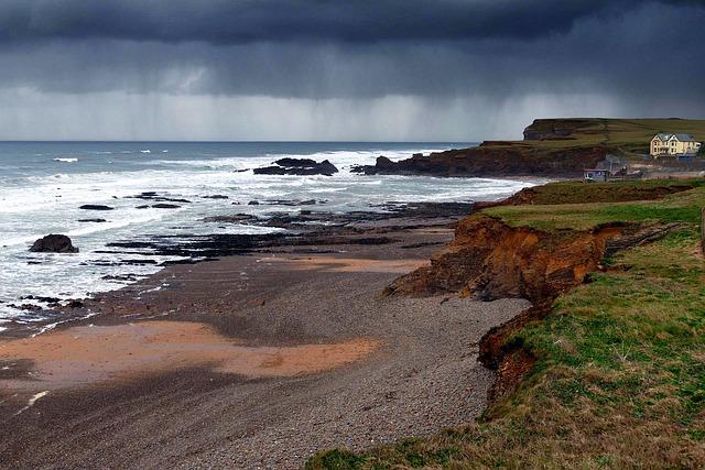 Crooklets Beach, Cornwall, Bude, England, Sea, Cliffs