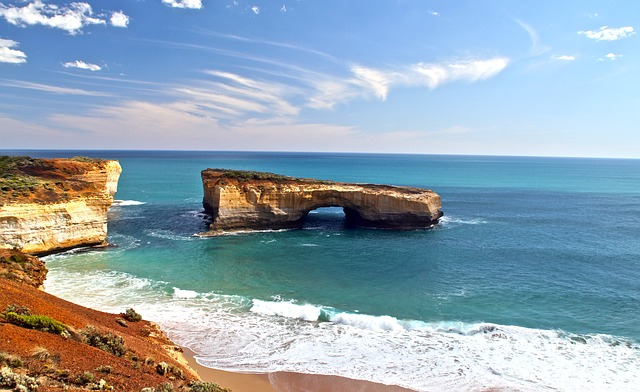 London Bridge, Australia, Rock, Water, Cliffs, Surf
