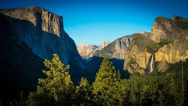 Cliffs, Forrest, Green, Tunnel View, Waterfall