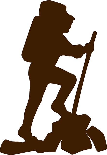 Climber, Hiker, Brown, Walking, Stick, Backpack