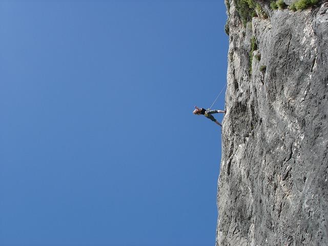Climb, Rock, Climber, Rope, Sport, Climbing Rope