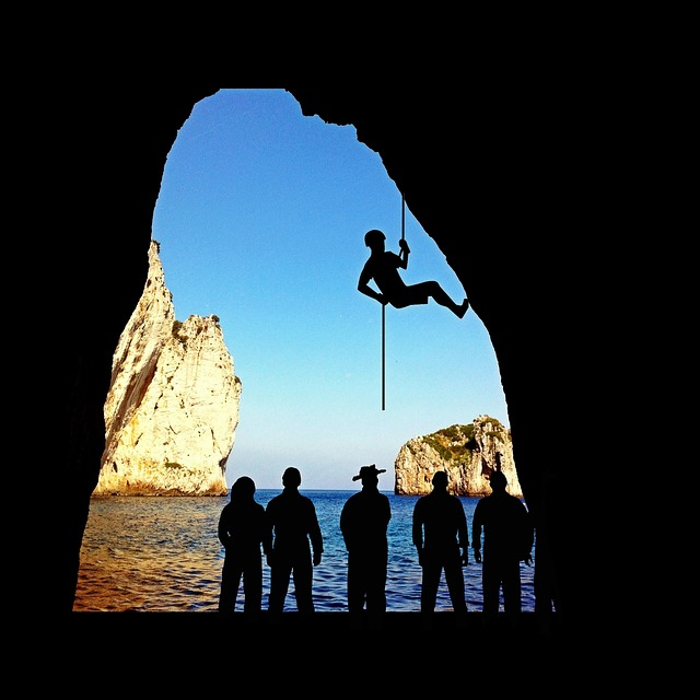Climb, Climbing Sport, Abseil, Mountaineer, Cave Tour