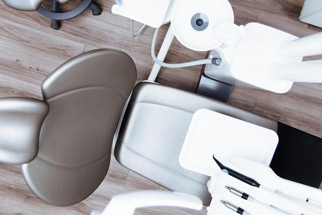 Dentist, Dental Chair, Clinic, Medical, Flatlay