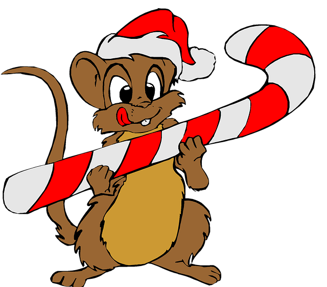 Christmas, Holiday, Clip Art, Mouse, Santa, Red, Hat