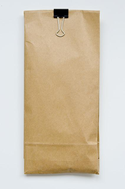 Bag, Paper, Brown, Kraft, Brown Paper Bag, Clip