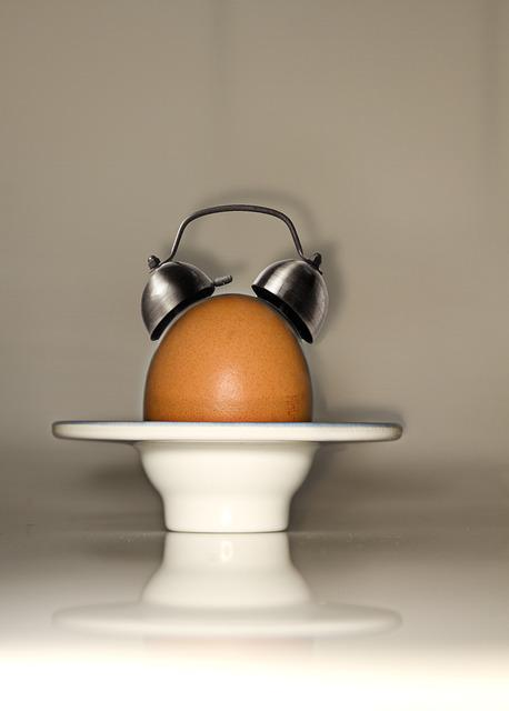 Egg, Alarm Clock, Arouse, Breakfast, Clock, Artwork