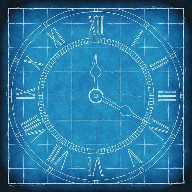Clock, Time, Blueprint, Time Clock, Timepiece, Dial