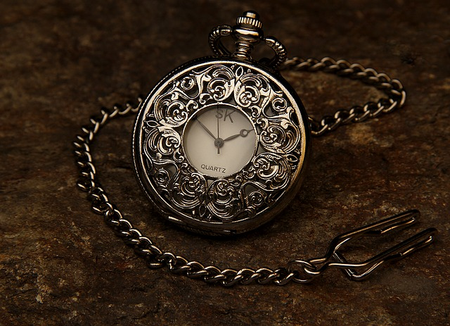 Pocket Watch, Jewel, Chain, Stone, Time, Clock, Hour