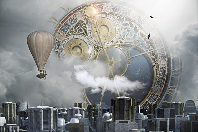 Steampunk, City, Clock, Clock City, Fantasy, Sci-fi