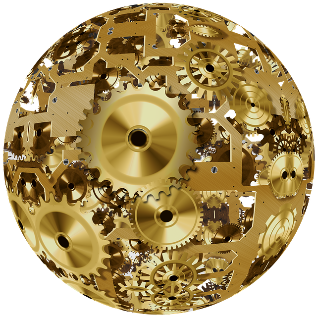 Clock, Ball, About, Movement, Time, Gear, Gears, Golden