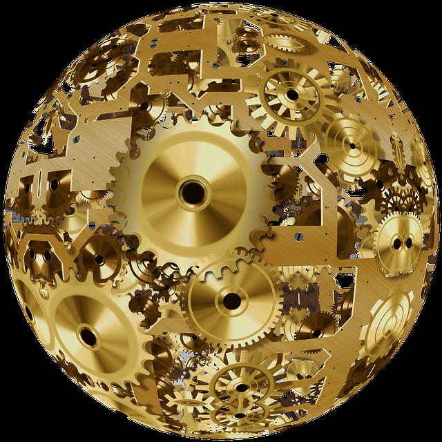 Clock, Ball, About, Movement, Time, Gear, Gears, Golden