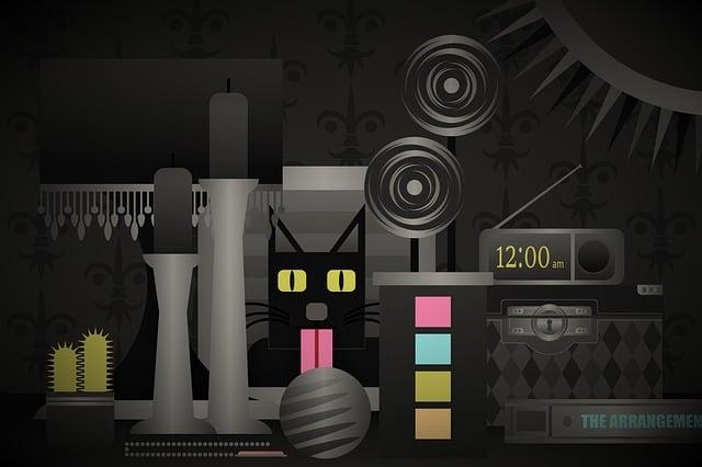 Cat, Dark, Digital, Time, Clock, Play, Game, Gray Cat