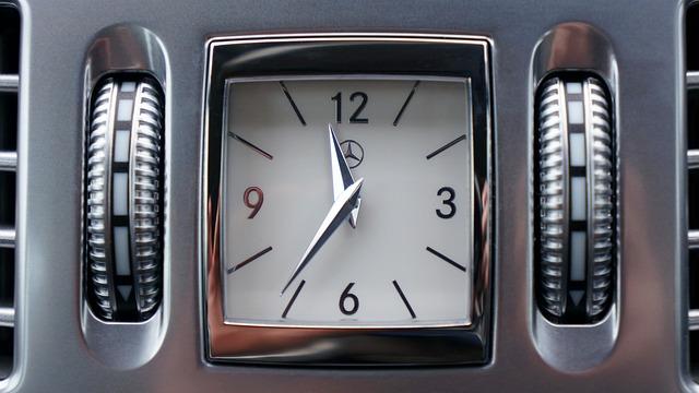 Mercedes, Car, Transport, Clock, Time, Auto, Motor