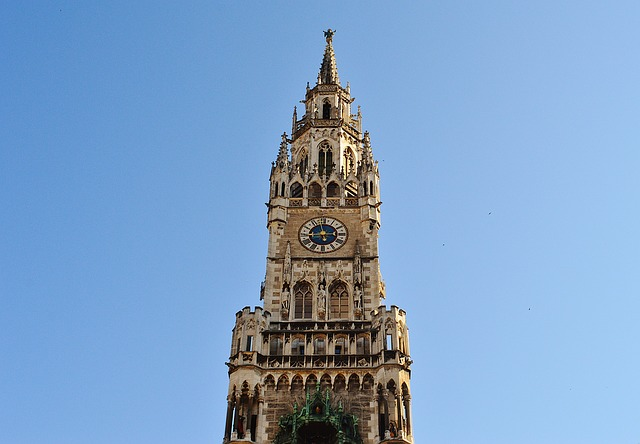 Town Hall, Clock Tower, Munich, Marienplatz, Spire