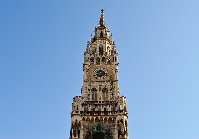 Town Hall, Clock Tower, Munich, Marienplatz, Spire