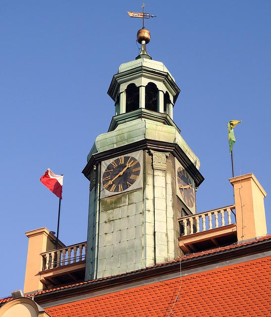 The Town Hall, Town Hall Tower, The Roof Of The, Clock