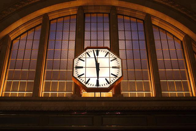 Glass, Architecture, Window, Building, Clock, Within