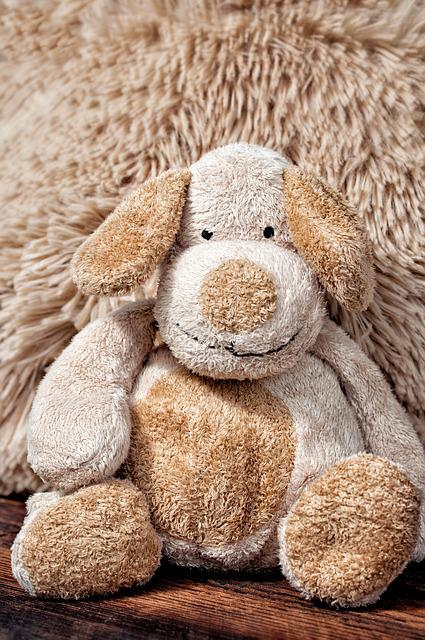 Fabric Dog, Stuffed Animal, Cute, Brown, Toys, Close