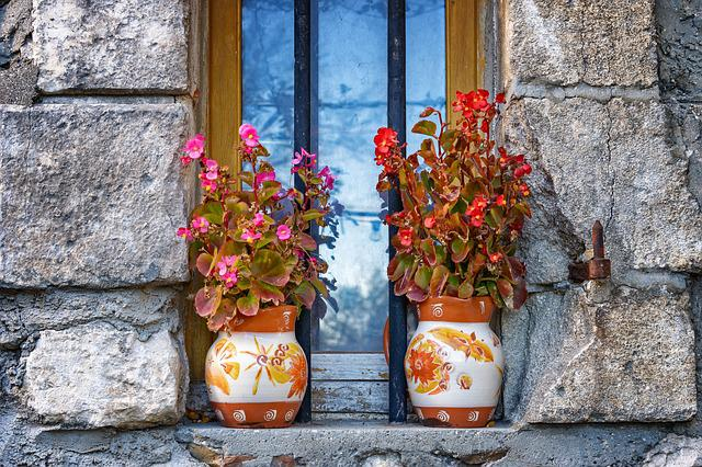 Free Photo Window Art Watercolor Nature Flowers Abstract