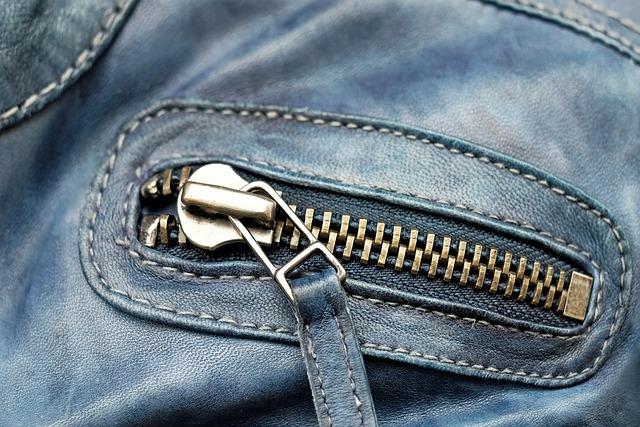Zip, Metal, Shiny, Close, Leather