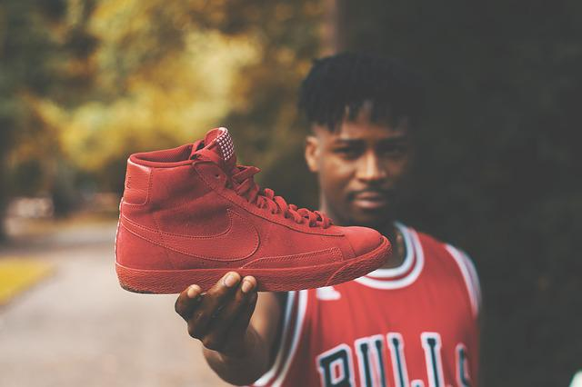 Adult, Air Jordan, Athlete, Blur, Boy, Close Up, Focus
