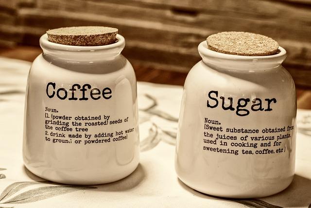 Coffee, Sugar, Cork, Earthenware, Close Up, Detail