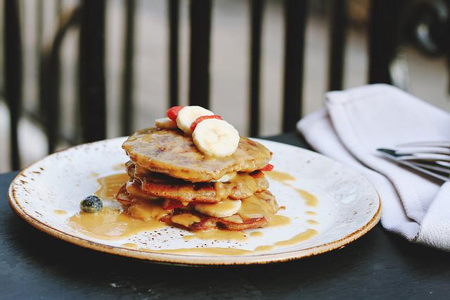 Breakfast, Close-up, Dessert, Food, Pancakes, Plate