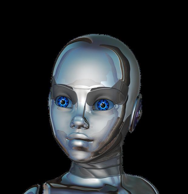 Girl, Woman, Face, Eyes, Close-up, Robot, Cyborg