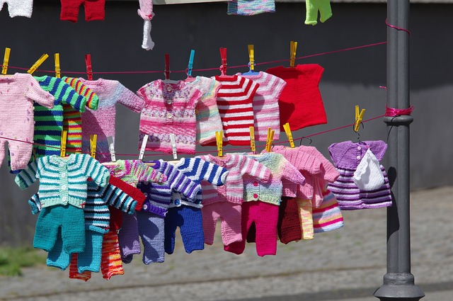 Clothing, Baby Clothes, Knitting Laundry, Clothes Line