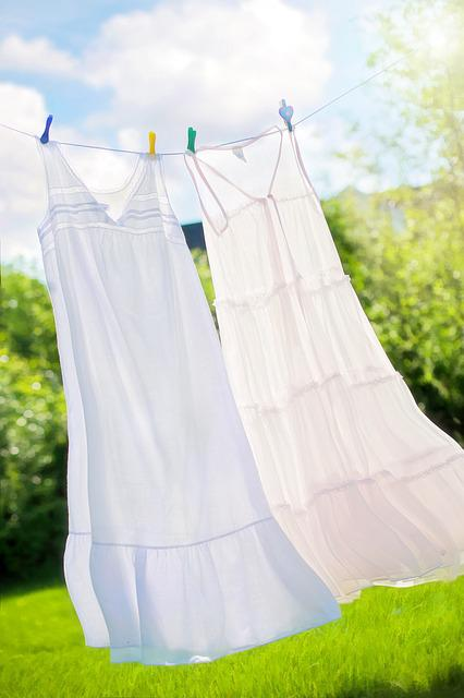 Clothesline, Summer, Nighties, Clean, Fresh, Laundry
