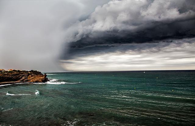Cloud, Sea, Grey Clouds, Cloudy Sky, Sky
