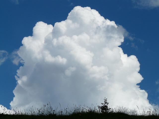 Cloud, Cumulus Clouds, Cumulus, Thunderstorm, Sky, Blue