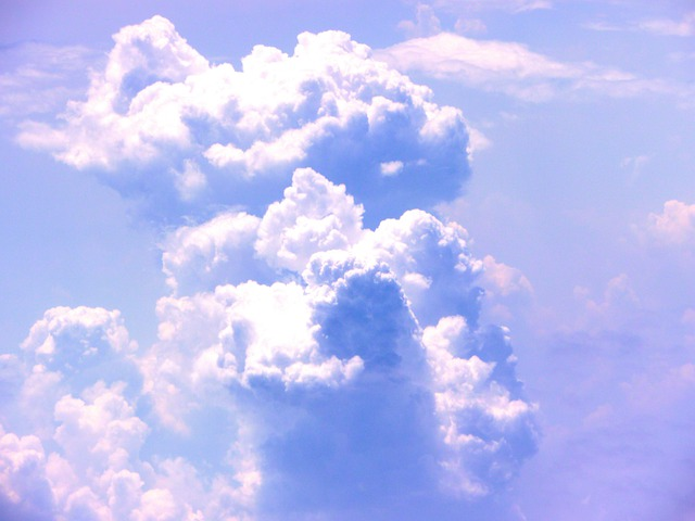 Cloud, Blue, Sky, Towering Cumulus Clouds Observed, Fly