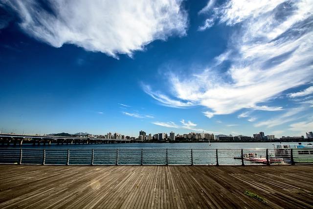 Seoul, Yeoido, Sky, Cloud, Korea, Han River, Blue River
