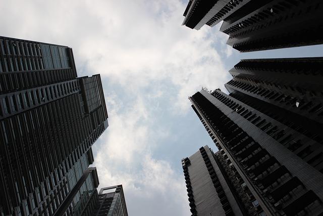 High Rise Building, Sky, City, Cloud