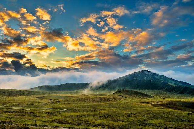 Japan, Aso, Kumamoto, Cloud, Volcano, Light, Asahi, Sky