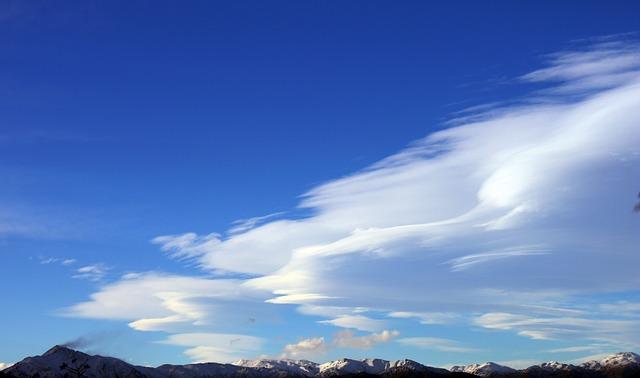 Sky, Mountain, Cloud, Mountains, Clouds, Landscape