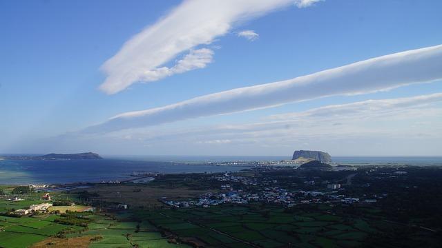 Jeju Island, Cloud, Shiroyama Hiji Peak, Udo