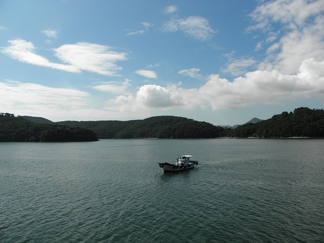 Times, Sea, Travel, Tongyeong, Sky, Cloud, Reflections
