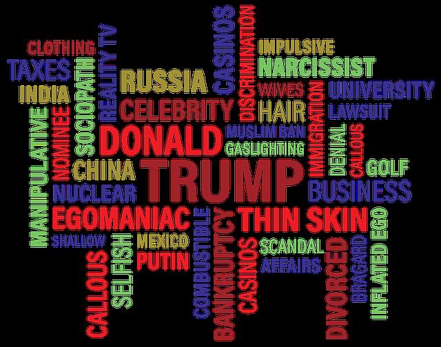 Trump, Donald J Trump, Word Cloud, Wordcloud, Cloud