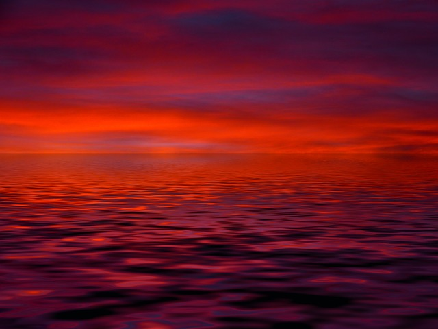 Sunrise, Cloud, Red, Orange, Mood, Water, Wave