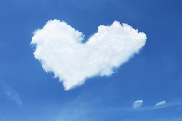 Cloud, Heart, Sky, Blue, White, Love, Luck, Loyalty