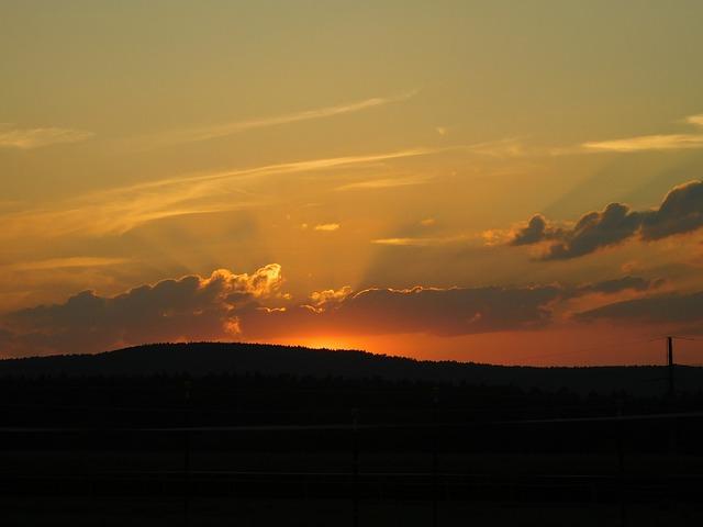 Sunset, Afterglow, Evening Sky, Clouds, Abendstimmung