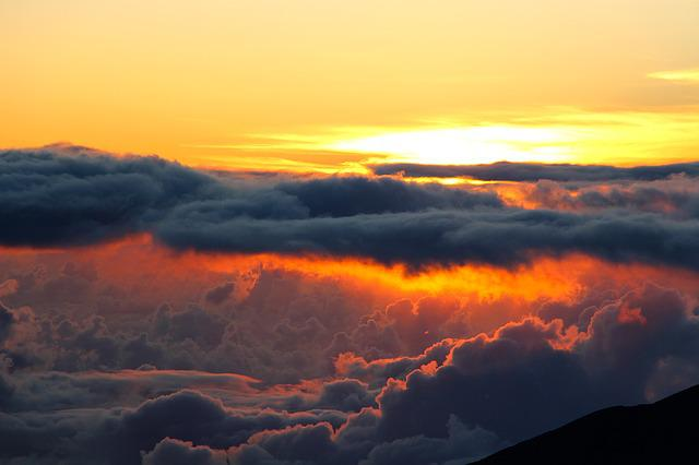 Sunrise, Clouds, Morning, Atmosphere, Weather, Romantic
