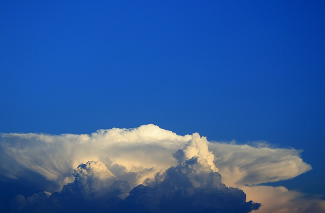 Clouds, White, Dense, Background, Anvil Shaped, Flat