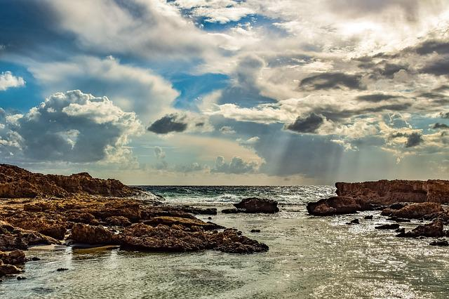 Beach, Nature, Sky, Clouds, Rocky Coast, Travel