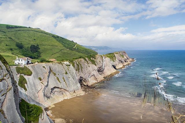 Landscape, Sea, Cliff, Sky, Beach, Clouds, Hermitage